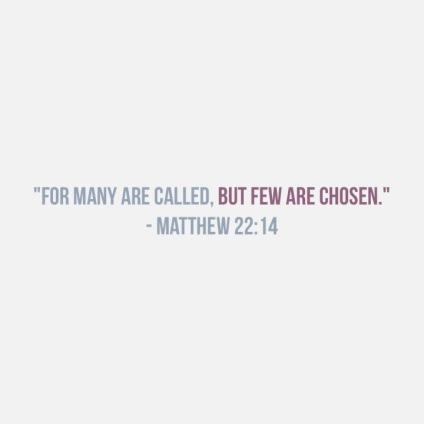 matthew 22:14 40 days of Lent
