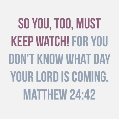 40 days of Lent Matthew 24:42