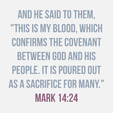 Mark 14:24 40 days of lent